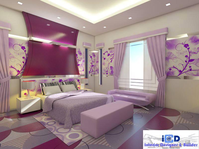 Pink bedroom girly design