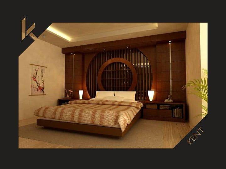 Japanese bedroom design interior