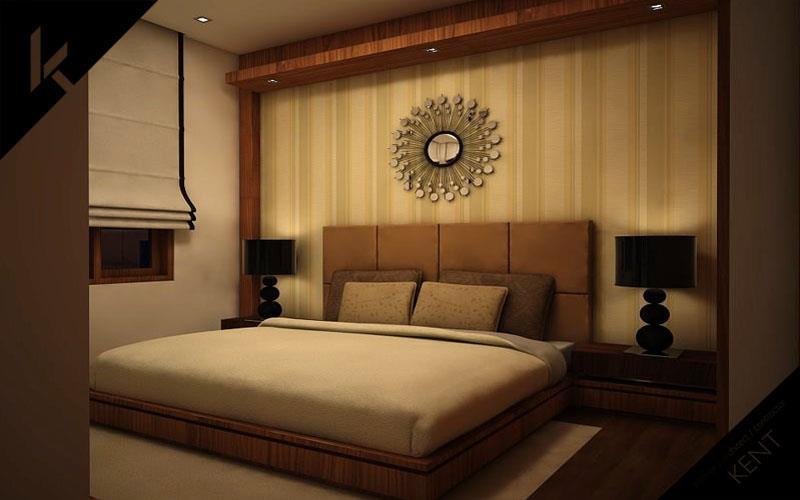 Modern simple bedroom brown