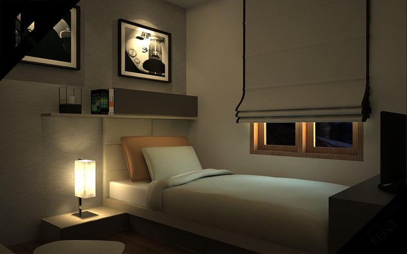 Minimalist bedroom design interior wallpaper