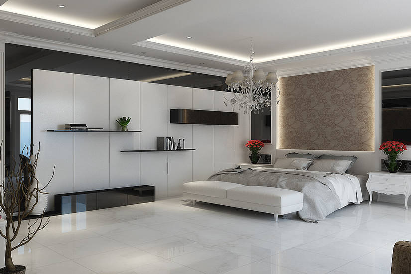 Bedroom style white natural