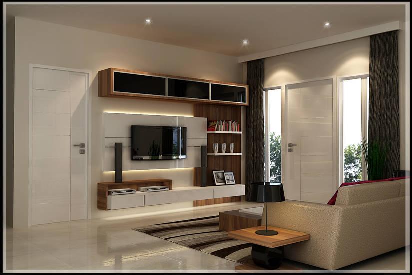 Foto Ruang Tamu Dengan Panel Di Dinding Oleh Artwork77 Interior Designer