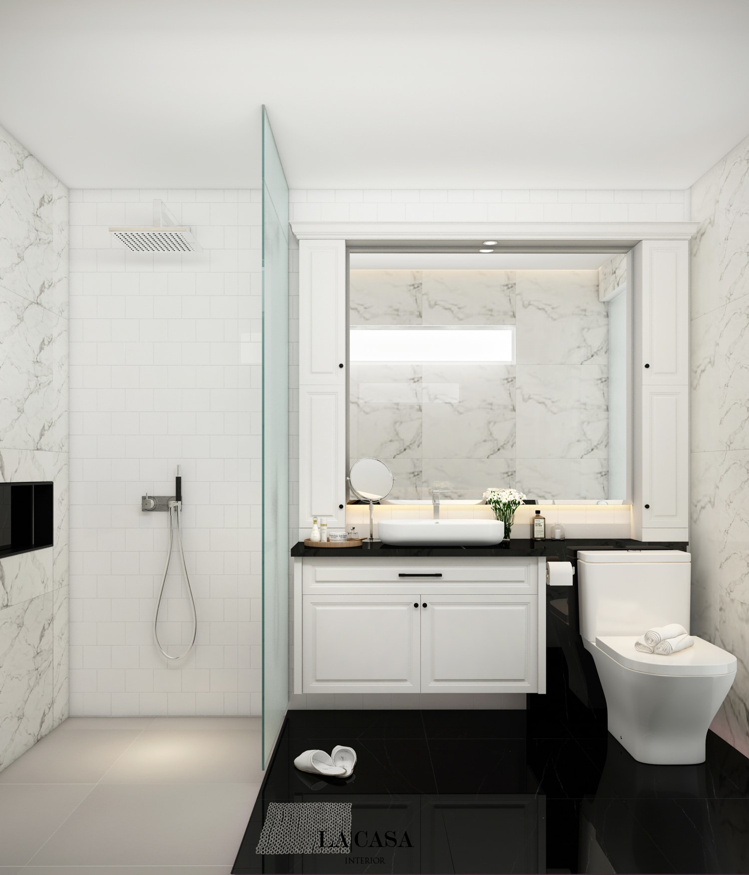 pengerjaan oleh la casa interior 8 kamar mandi
