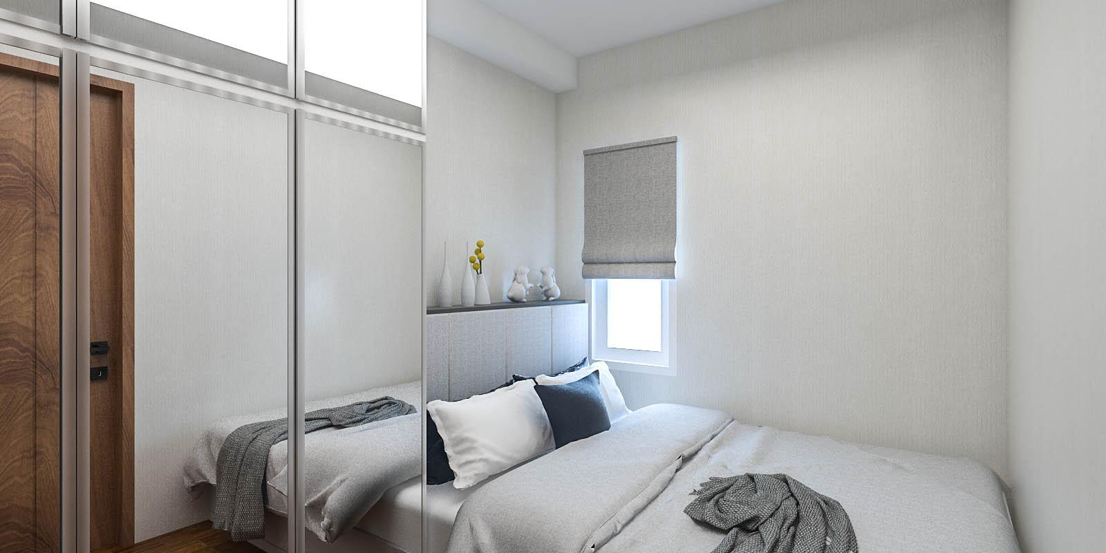 Kumpulan desain kamar tidur minimalis apartemen for Dekor kamar tidur hotel