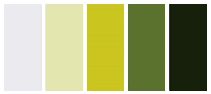 Palet Warna Putih Dengan Lime