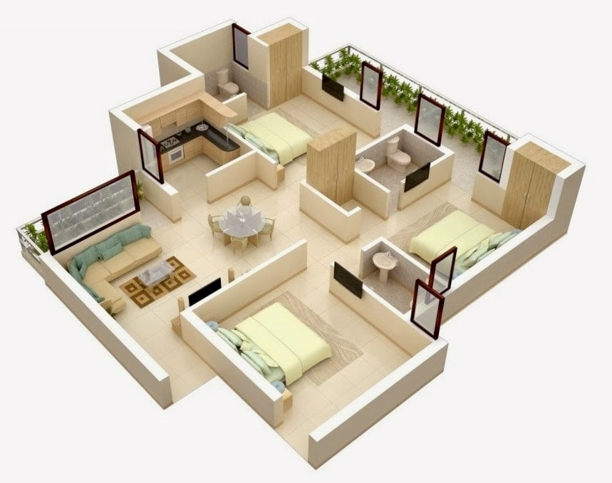 770 Gambar Desain Rumah 3 Kamar Sederhana Gratis Download