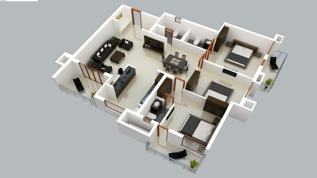 55 Gambar Desain Rumah 3 Kamar Garasi Gratis Terbaru Download