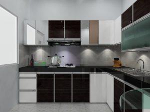 Finishing kitchen set