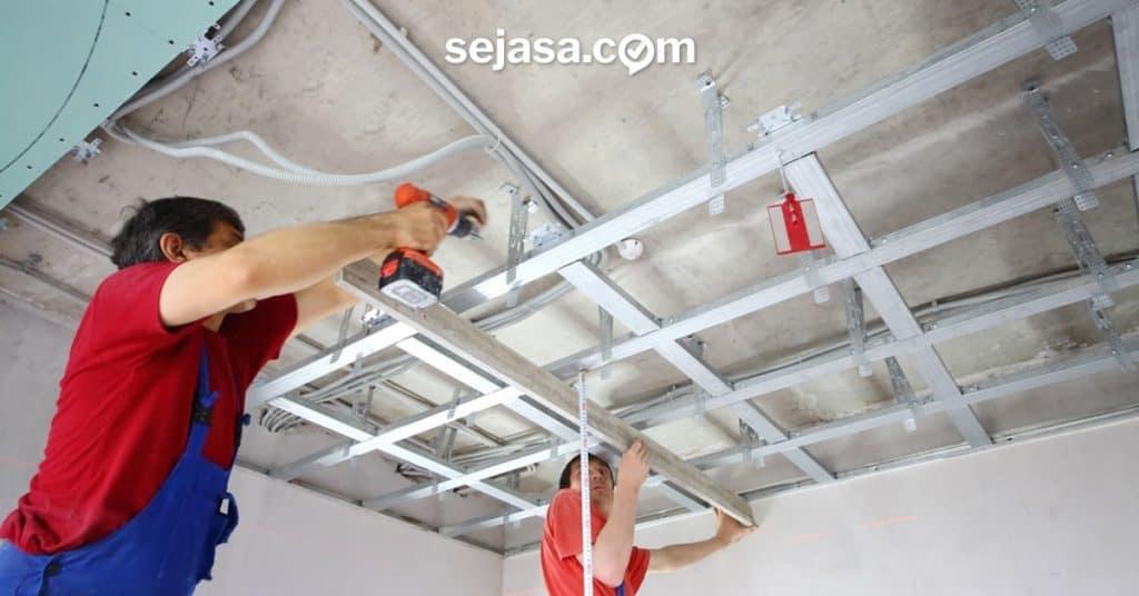 biaya pemasangan dan perbaikan plafon