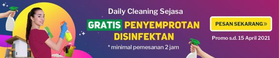 promo jasa bersih-bersih daily cleaning disinfektan